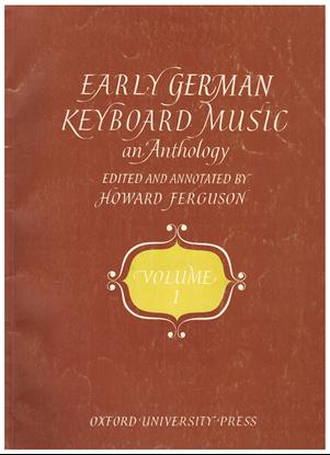 Picture of Early German Keyboard Music Vol. 1, ed. Howard Ferguson