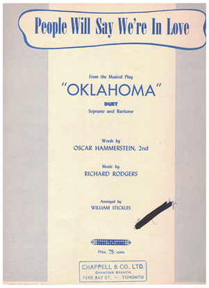 Picture of People Will Say We're in Love, from Oklahoma, Rogers & Hammerstein, soprano & baritone duet