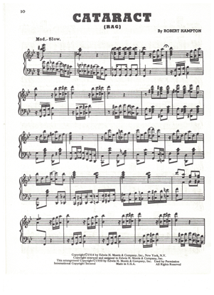 Picture of Cataract Rag, Robert Hampton, piano solo
