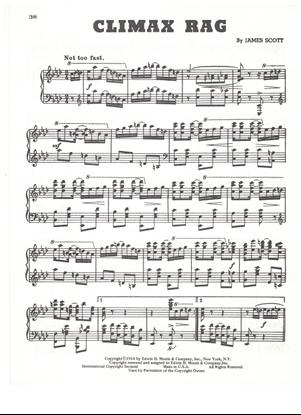 Picture of Climax Rag, James Scott, piano solo