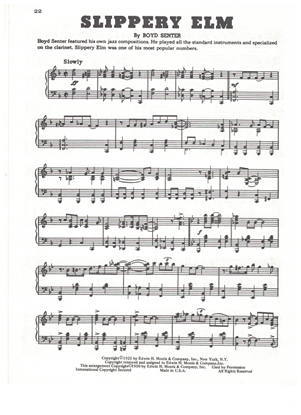 Picture of Slippery Elm, Boyd Senter, piano solo