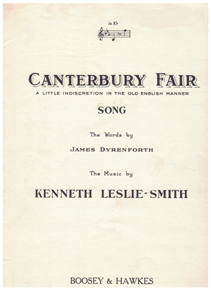 Picture of Canterbury Fair, James Dyrenforth & Kenneth Leslie-Smith, vocal solo