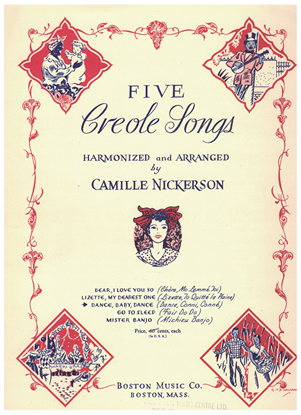 """Picture of Dance Baby Dance (Danse Conni Conne), from """"Five Creole Songs"""", arr. Camille Nickerson, medium voice solo"""