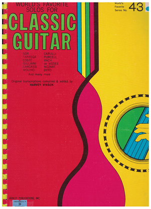Picture of World's Favorite Series No.  43, World's Favorite Solos for Classic Guitar, WFS43, ed. Harvey Vinson