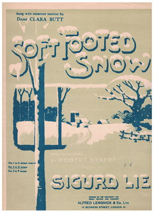 Picture of Soft Footed Snow, Sigurd Lie, popularized by Dame Clara Butt, medium voice solo