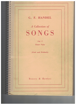 Picture of Handel...A Collection of Songs Vol. 5, Tenor Voice, ed. Walter Ford & Rupert Erlebach