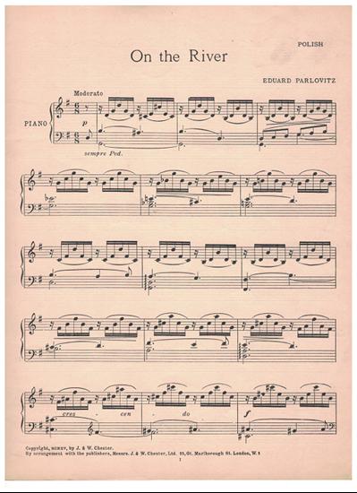 Picture of On the River, Eduard Parlovitz, piano solo