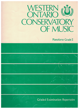 Picture of Western Ontario Conservatory of Music Grade 2 Piano Exam Book, 1976 Edition