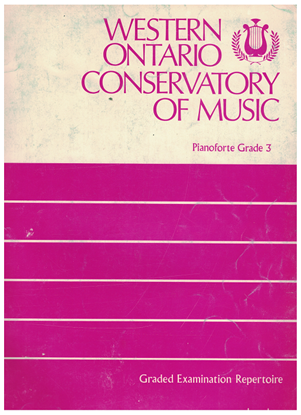 Picture of Western Ontario Conservatory of Music Grade 3 Piano Exam Book, 1975 Edition