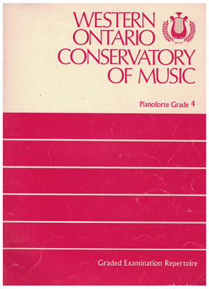 Picture of Western Ontario Conservatory of Music Grade 4 Piano Exam Book, 1974 Edition