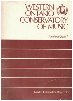 Picture of Western Ontario Conservatory of Music Grade 7 Piano Exam Book, 1973 Edition
