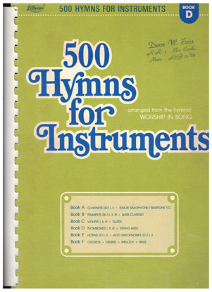 Picture of 500 Hymns for Instruments Book D, trombones & string bass, arr. Harold Lane