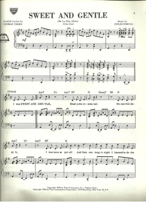 Picture of Sweet and Gentle/ Me Lo dijo Adela (Cha Cha), Otolio Portal, sheet music