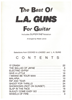 Picture of L.A. Guns....The Best of, arr. Wade Lance, easy guitar TAB songbook