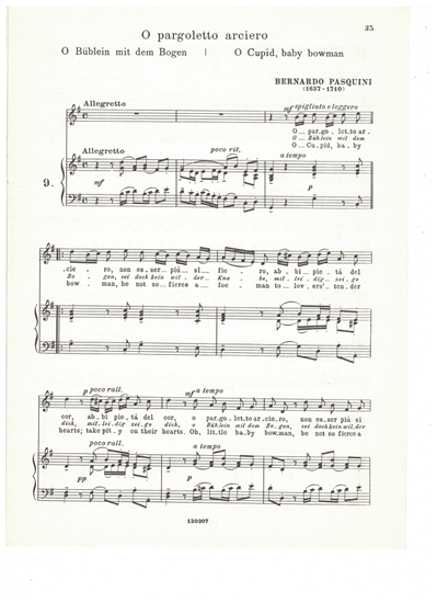 Picture of O pargoletto arciero, Bernardo Pasquini, medium-high voice solo