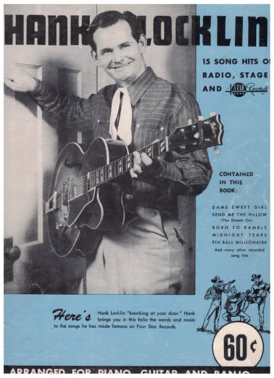 Picture of Hank Locklin, 15 Song Hits of Radio, Stage & Records, songbook