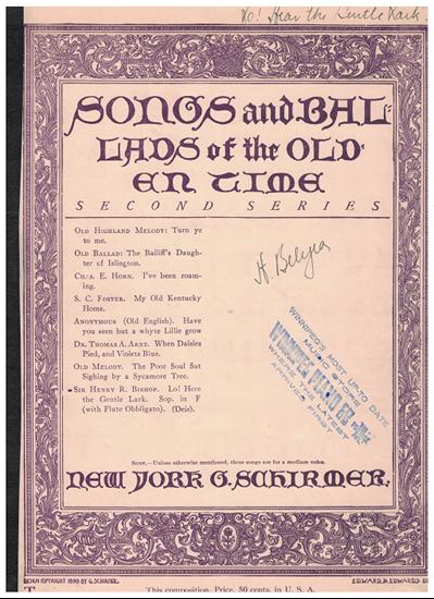 Picture of Lo Here the Gentle Lark, Sir Henry R. Bishop, coloratura soprano solo with flute obbligato