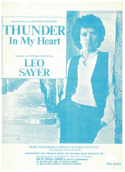 Picture of Thunder in My Heart, Leo Sayer & Tom Snow, recorded by Leo Sayer
