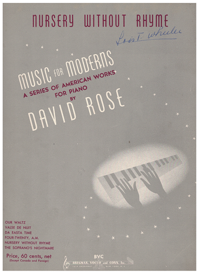 Picture of Nursery Without Rhyme, David Rose, piano solo