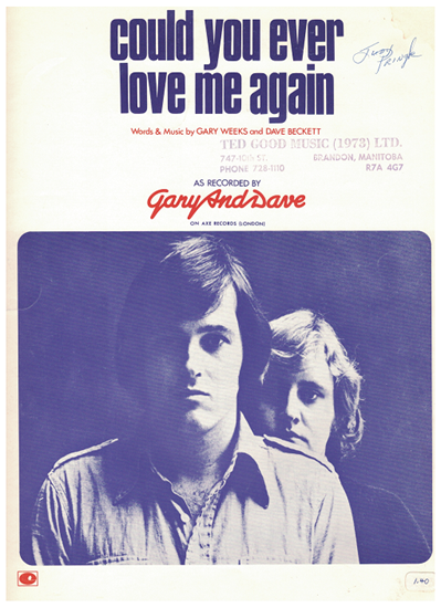 Picture of Could You Ever Love Me Again, Gary Weeks & Dave Beckett, recorded by Gary and Dave