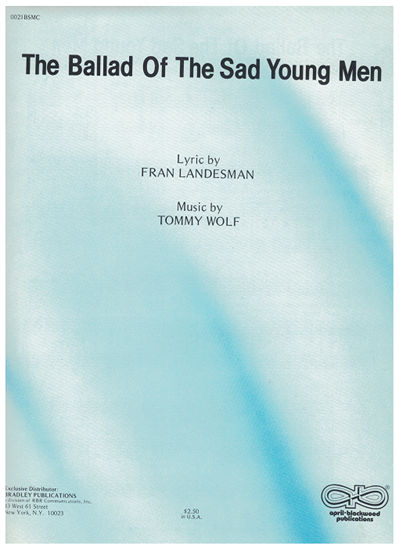 Picture of The Ballad of the Sad Young Men, Fran Landesman & Tommy Wolf, recorded by Tani Seitz