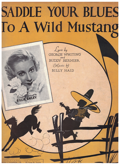 Picture of Saddle Your Blues to a Wild Mustang, George Whiting/ Buddy Bernier/ Billy Haid