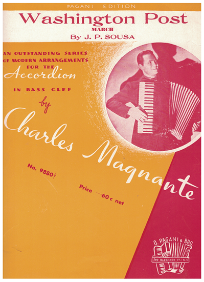 Picture of Washington Post March, John Philip Sousa, arr. Charles Magnante for accordion solo