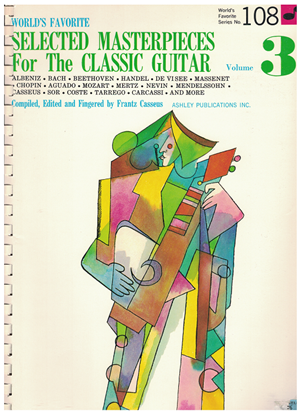 Picture of World's Favorite Series No. 108, Selected Masterpieces for the Classic Guitar Vol. 3, WFS108, ed. Frantz Casseus, songbook