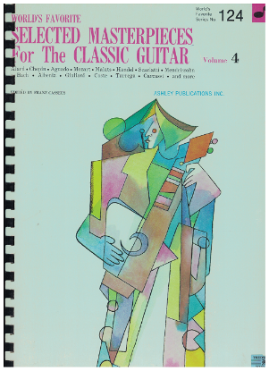 Picture of World's Favorite Series No. 124, Selected Masterpieces for the Classic Guitar Vol. 4, WFS124, ed. Frantz Casseus, songbook