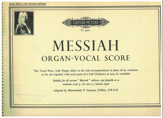 Picture of Messiah, G. F. Handel, organ/vocal score, ed. Marmaduke P. Conway