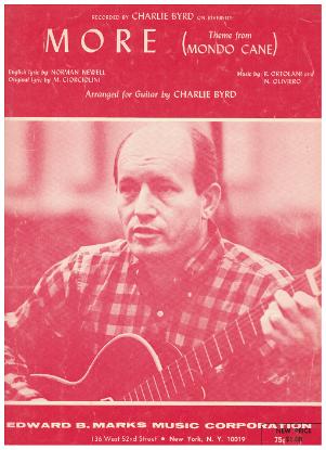 """Picture of More, theme from movie """"Mondo Cane"""", Marcello Ciorciolini/ Riz Ortolani / Nino Oliviero, arr. Charlie Byrd, guitar solo sheet music"""