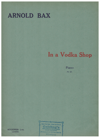 Picture of In a Vodka Shop, Arnold Bax, piano solo