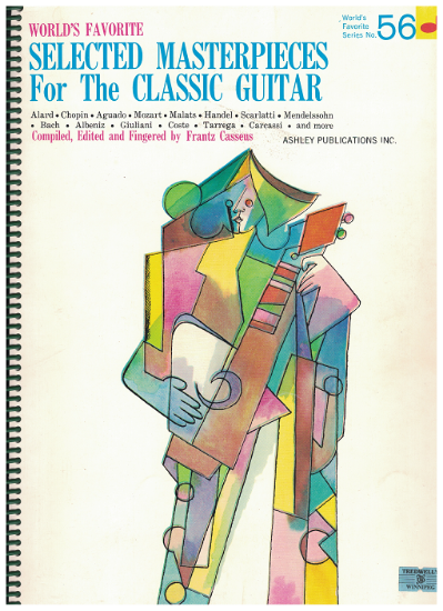 Picture of World's Favorite Series No.  56, Selected Masterpieces for the Classic Guitar Vol. 1, WFS56, ed. Frantz Casseus, songbook