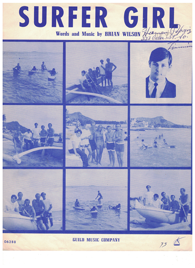 Picture of Surfer Girl, Brian Wilson, recorded by The Beach Boys