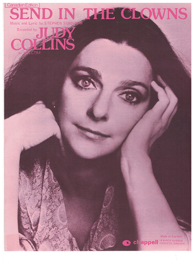 """Picture of Send in the Clowns, from musical """"A Little Night Music"""", recorded by Judy Collins"""