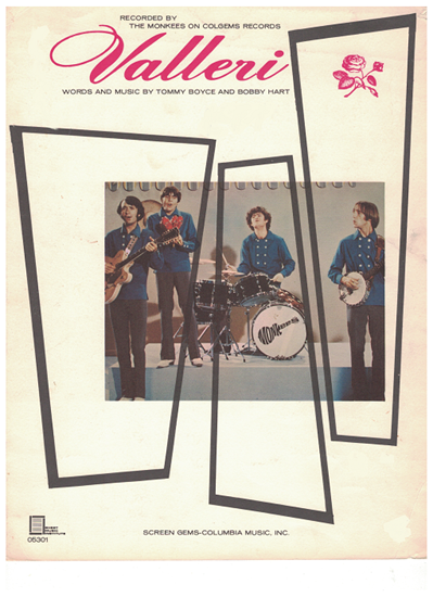 Picture of Valleri, Tommy Boyce & Bobby Hart, recorded by The Monkees