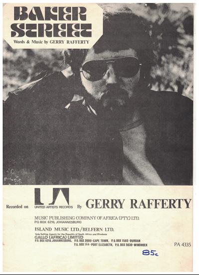 Picture of Baker Street, written & recorded by Gerry Rafferty