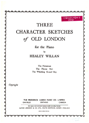 Picture of Three Character Sketches of Old London, Healey Willan, piano solo