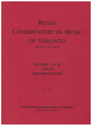 Picture of Violin Grade 1 & 2 Exam Book, 1960(?) Edition, Royal Conservatory of Music, University of Toronto, piano accompaniment songbook