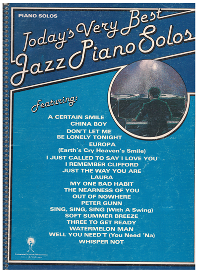 Picture of Today's Very Best of Jazz Piano Solos, songbook