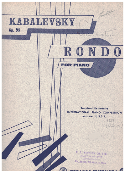 Picture of Rondo Op. 59, Dmitri Kabalevsky, piano solo