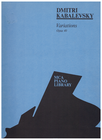 Picture of Variations Op. 40, Dmitri Kabalevsky, edited Joseph Wolman, piano solo