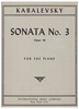 Picture of Sonata No. 3 Op. 46, Dmitri Kabalevsky, edited Isidor Philipp, piano solo
