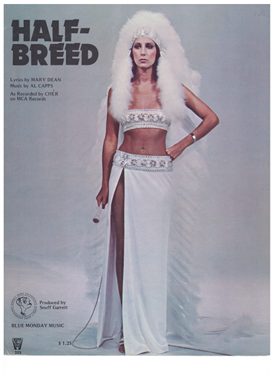 Picture of Half-Breed, Mary Dean & Al Capps, recorded by Cher, sheet music