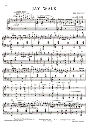 Picture of Jay Walk, Zez Confrey, piano solo sheet music