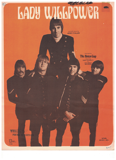 Picture of Lady Willpower, Jerry Fuller, recorded by Gary Puckett and the Union Gap, sheet music