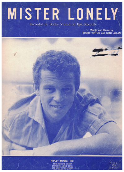 Picture of Mr Lonely, Bobby Vinton & Gene Allan, recorded by Bobby Vinton, sheet music