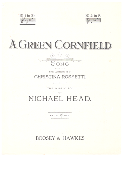 Picture of Green Cornfield...A, Michael Head, low voice