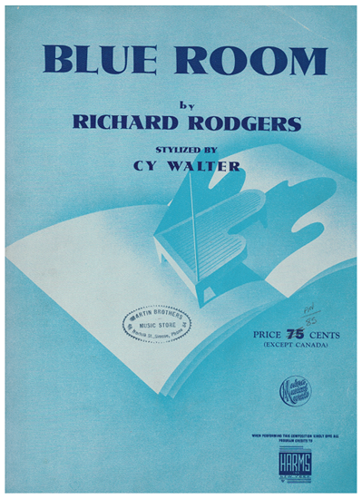Picture of The Blue Room, Richard Rodgers, arr. Cy Walter, piano solo
